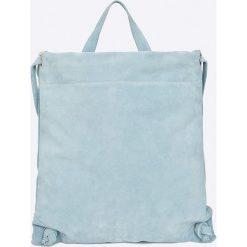 Answear - Plecak skórzany. Szare plecaki damskie ANSWEAR, z materiału. W wyprzedaży za 169,90 zł.