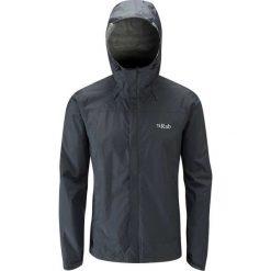 Kurtki sportowe męskie: RAB Kurtka męska Downpour Jacket czarna r. L (QWF-61-BL)