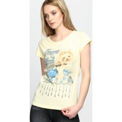 Bluzki, topy, tuniki: Żółty T-shirt Lay Me Down