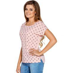 Koszulka damska Samanta. Szare bluzki nietoperze marki TOMMY HILFIGER, m, z nadrukiem, z bawełny, casualowe, z okrągłym kołnierzem. Za 55,24 zł.