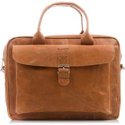Jasny Brąz SKÓRZANA TORBA NA LAPTOPA BALEINE. Brązowe torby na laptopa marki Baleine, w paski, ze skóry. Za 449,00 zł.
