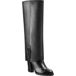 Kozaki GINO ROSSI - Matera DKG656-M13-GD00-F Czarny. Czarne buty zimowe damskie marki Superfit, z gore-texu, przed kolano, na wysokim obcasie. W wyprzedaży za 479,00 zł.