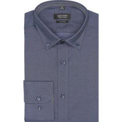 Koszula bexley 2494 długi rękaw slim fit granatowy. Szare koszule męskie slim marki Recman, na lato, l, w kratkę, button down, z krótkim rękawem. Za 149,00 zł.