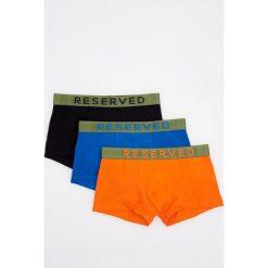 Majtki męskie: 3 pack kolorowych bokserek – Pomarańczo