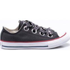 Converse - Tenisówki dziecięce. Szare buty sportowe dziewczęce Converse, z gumy, z okrągłym noskiem, na sznurówki. Za 219,90 zł.