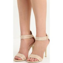 Beżowe Sandały Holy Grail. Brązowe rzymianki damskie Born2be, z materiału, na wysokim obcasie, na obcasie. Za 59,99 zł.