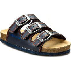 Klapki DR. BRINKMANN - 505111-5 Ozean/Orange. Niebieskie sandały chłopięce Dr. Brinkmann, z materiału. Za 118,00 zł.