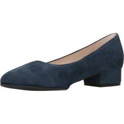 Czółenka MIHO. Niebieskie buty ślubne damskie Gino Rossi, ze skóry, na płaskiej podeszwie. Za 299,90 zł.