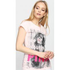 T-shirty damskie: Jasnoróżowy T-shirt Favourite