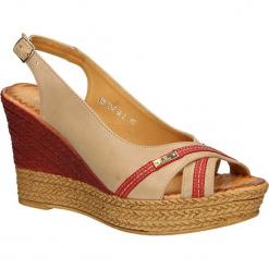 SANDAŁY CARINII B2042-626. Brązowe sandały damskie marki Carinii. Za 99,99 zł.