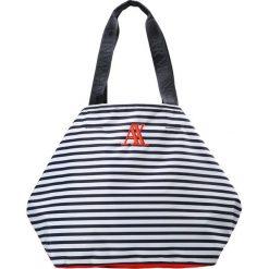 Armani Exchange Torba na zakupy white/navy. Czarne shopper bag damskie marki Armani Exchange, l, z materiału, z kapturem. W wyprzedaży za 423,20 zł.