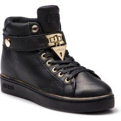 Sneakersy GUESS - FLBOG4 LEA12 BLACK. Czarne sneakersy damskie Guess, z materiału. Za 579,00 zł.