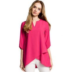 Bluzki, topy, tuniki: Zwiewna bluzka z warstwami nachodzącymi na siebie - różowa
