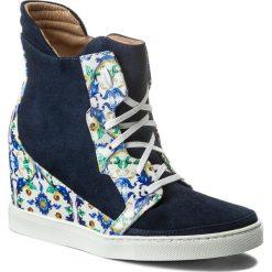 Sneakersy BALDOWSKI - W00041-SNIK-002 Zamsz Granat/Porcelana Żółto/Niebieski. Niebieskie sneakersy damskie Baldowski, z lakierowanej skóry. W wyprzedaży za 399,00 zł.