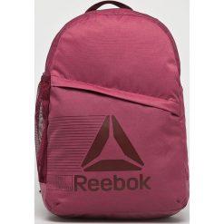 Reebok - Plecak. Szare plecaki damskie marki Reebok, l, z dzianiny, z okrągłym kołnierzem. W wyprzedaży za 99,90 zł.