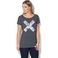 Colour Pleasure Koszulka damska CP-034  39 szaro-biała r. XL-XXL. Białe bluzki damskie Colour pleasure, xl. Za 70,35 zł.