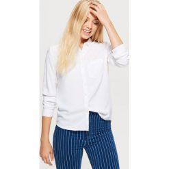 Gładka koszula - Biały. Białe koszule wiązane damskie Cropp, l. Za 49,99 zł.