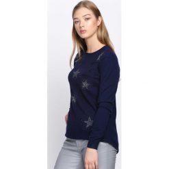 Swetry klasyczne damskie: Granatowy Sweter Sweet Escape
