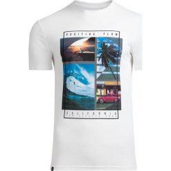 T-shirt męski TSM606 - biały - Outhorn. Białe t-shirty męskie Outhorn, na lato, m, z bawełny. Za 39,99 zł.