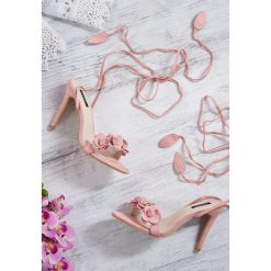 Różowe Sandały Boteh. Czerwone sandały damskie vices, na wysokim obcasie. Za 79,99 zł.