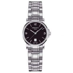 PROMOCJA ZEGAREK CERTINA C017.210.11.057.00. Czarne zegarki damskie CERTINA, ze stali. W wyprzedaży za 1034,00 zł.
