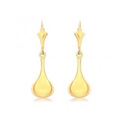 Złote kolczyki. Żółte kolczyki damskie Golden Moments, złote, z zapięciem typu bigiel. W wyprzedaży za 199,95 zł.