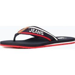 Tommy Jeans - Męskie sandały w stylu japonek z dodatkiem skóry, niebieski. Niebieskie sandały męskie skórzane Tommy Jeans. Za 119,95 zł.
