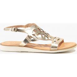 Sandały złote. Żółte sandały damskie Badura. Za 119,99 zł.