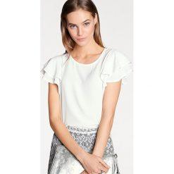 Bluzki asymetryczne: Bluzka w kolorze kremowym