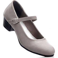 Buty ślubne damskie: Czółenka z paskiem bonprix ciemnoszary