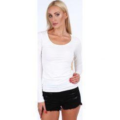 Bluzki damskie: Bluzka z długim rękawem kremowa MP12392
