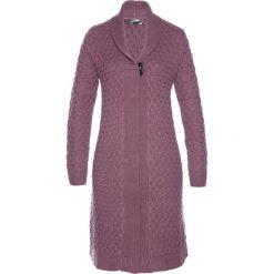 Płaszcze damskie: Płaszcz dzianinowy bonprix matowy jeżynowy