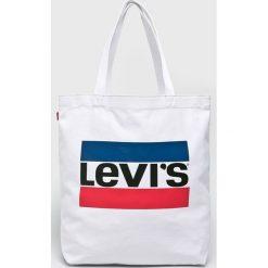 Levi's - Torebka. Brązowe torebki klasyczne damskie Levi's®, w paski, z bawełny, duże. Za 79,90 zł.