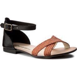 Sandały damskie: Sandały NESSI – 494-1 Czarny/Pomarańcz