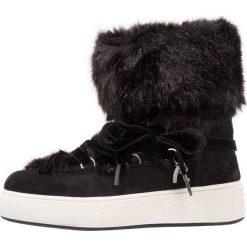 Buty zimowe damskie: Replay Botki sznurowane black