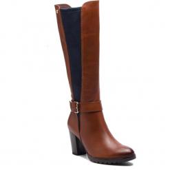 Kozaki CAPRICE - 9-25611-21 Cognac Multi 388. Brązowe buty zimowe damskie Caprice, z materiału. Za 519,90 zł.