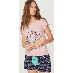 Piżamy damskie: Dwuczęściowa piżama – Fioletowy