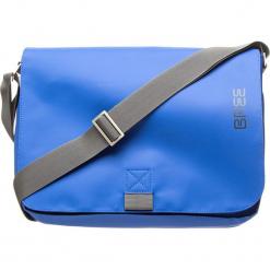 """Torebka """"Punch 49"""" w kolorze niebieskim - 38 x 28 x 8 cm. Niebieskie torby na laptopa BREE, w paski, z materiału. W wyprzedaży za 181,95 zł."""