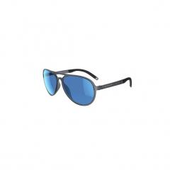 Okulary przeciwsłoneczne MH 500 POLA KAT3. Szare okulary przeciwsłoneczne damskie aviatory QUECHUA, z gumy. Za 79,99 zł.