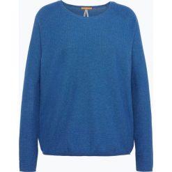 Swetry klasyczne damskie: BOSS Casual - Sweter damski z dodatkiem jedwabiu – Idellah, niebieski