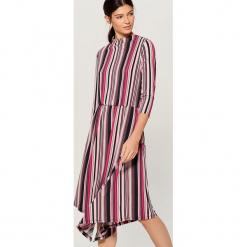 Sukienka midi w paski - Różowy. Czerwone sukienki Mohito, l, w paski, midi. Za 139,99 zł.