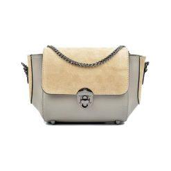 Torebki klasyczne damskie: Skórzana torebka w kolorze fango – (S)22 x (W)31 x (G)10 cm