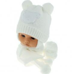 Czapka niemowlęca z szalikiem i rękawiczkami CZ+S+R 124C. Szare czapeczki niemowlęce Proman. Za 47,14 zł.