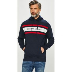 Tommy Jeans - Bluza. Czarne bluzy męskie Tommy Jeans, l, z bawełny, z kapturem. Za 449,90 zł.