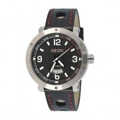 """Zegarek """"SMQZ3LTSTBKRD"""" w kolorze czarno-srebrnym. Czarne, analogowe zegarki męskie Dugena & Nautec No Limit, srebrne. W wyprzedaży za 239,95 zł."""