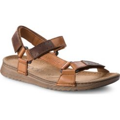 Sandały męskie skórzane: Sandały LASOCKI FOR MEN – MI07-A612-A472-17 Brązowy