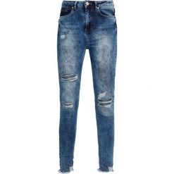 Rurki damskie: Missguided SINNER HIGHWAISTED CHEWED Jeans Skinny Fit vintage blue