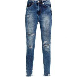 Missguided SINNER HIGHWAISTED CHEWED Jeans Skinny Fit vintage blue. Niebieskie jeansy damskie Missguided. W wyprzedaży za 125,30 zł.