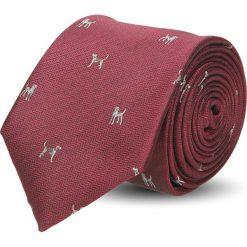 Krawat platinum bordo classic 227. Czerwone krawaty męskie Recman. Za 49,00 zł.