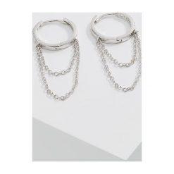 Kolczyki damskie: CZ by Kenneth Jay Lane SWAG CHAIN Kolczyki silvercoloured